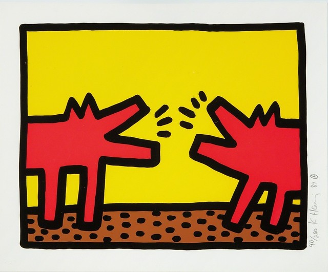 Keith Haring, 'Barking Dogs (Pop Shop IV)', 1989, Rhodes