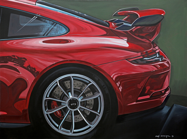 , 'Red GT3,' 2019, JPS art Gallery