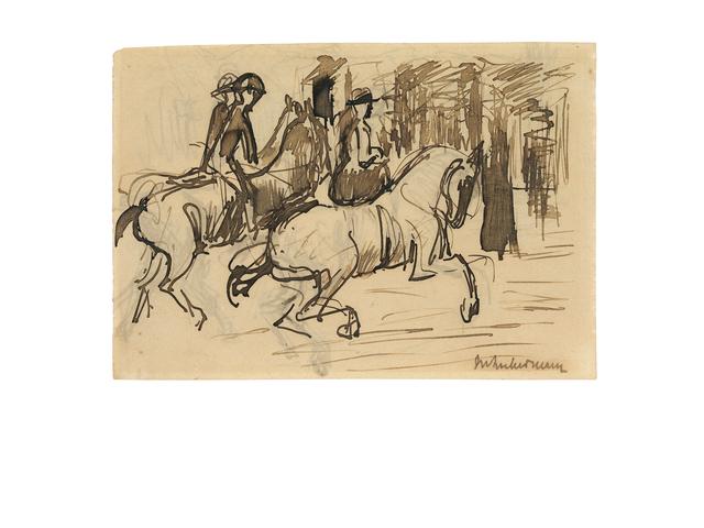 , 'Der Ausritt,' ca. 1910, Ludorff