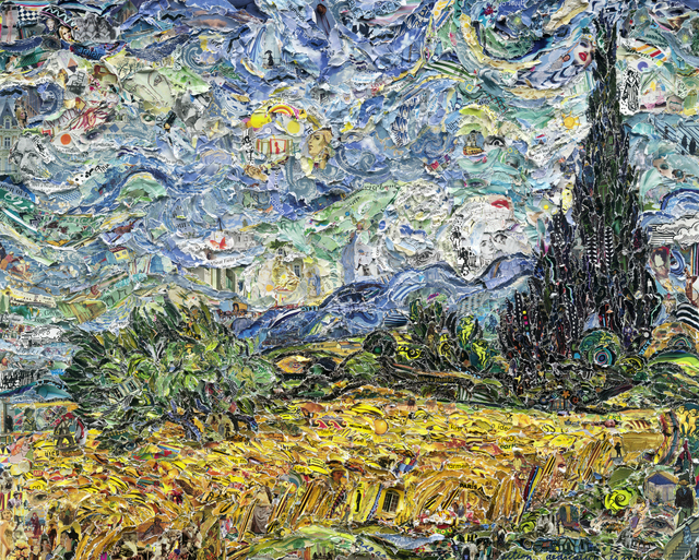 , 'Wheat Field with Cypresses, after Van Gogh (Pictures of Magazines 2),' 2011, Ben Brown Fine Arts