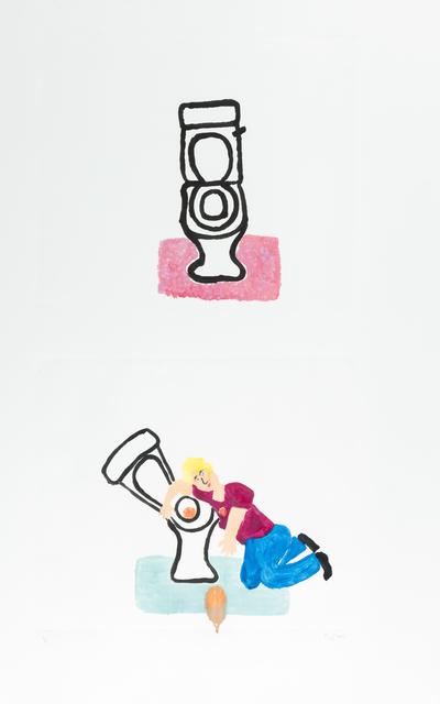 Sara Zielinski, 'Bathroom Rug', 2015, Print, Monotype, Childs Gallery