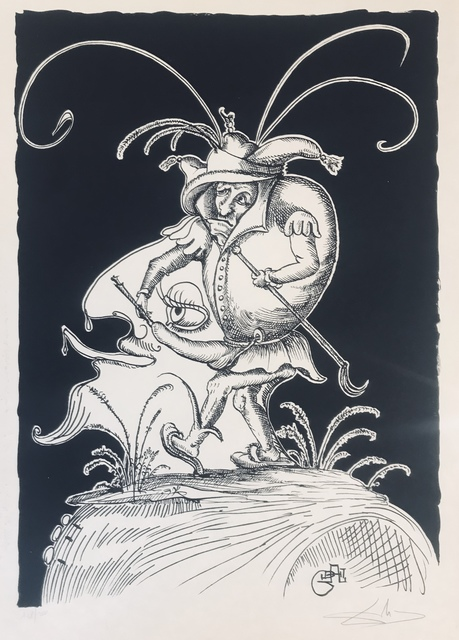 Salvador Dalí, 'Tete de roi bossu', 1973, Drawing, Collage or other Work on Paper, Lithograph, Dali Paris