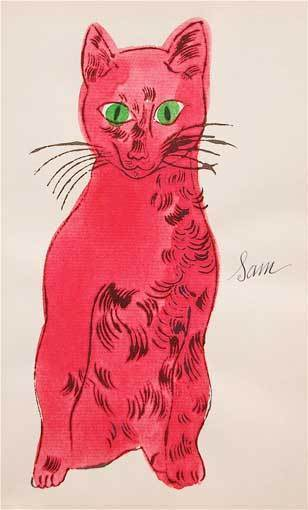 Andy Warhol, '25 Cats Names Sam... (Red with Green Eyes)', 1954, Susan Sheehan Gallery