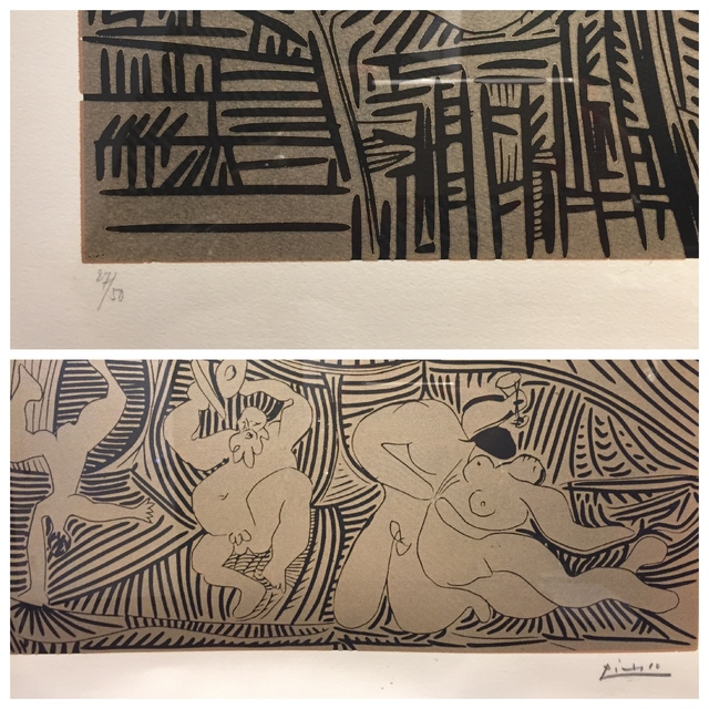 Pablo Picasso, 'Bacchanale Au Hibou ', 1959, Print, Linocut on Arches paper, Off The Wall Gallery