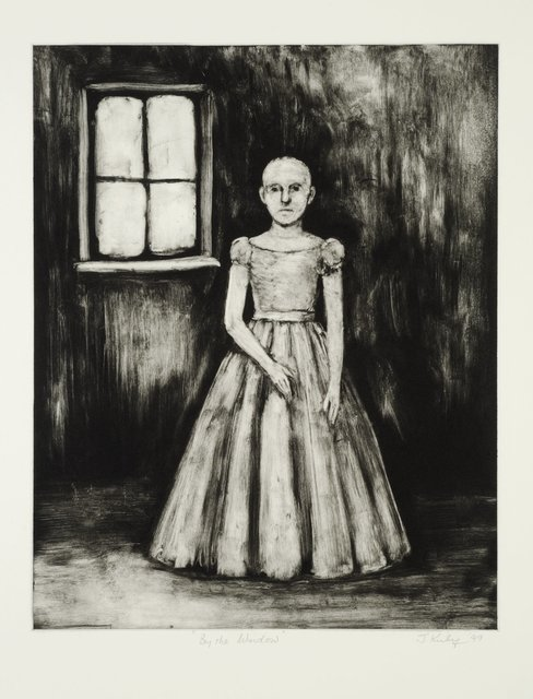 John Kirby, 'By the Window', 1999, Print, Monotype, Flowers