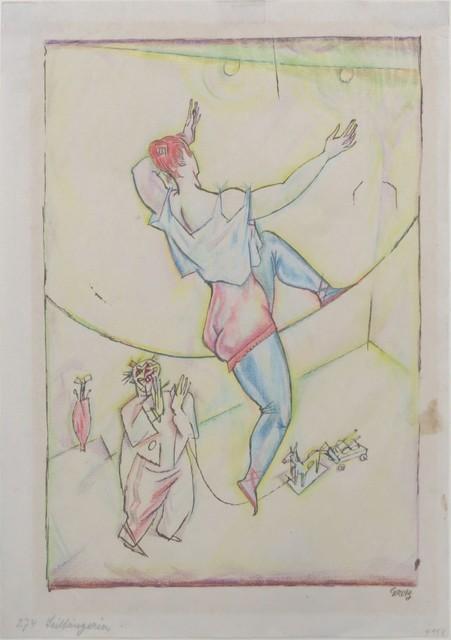 , 'Seiltänzerin und Clown,' around 1916, Galerie Thomas