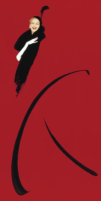 , 'Hommage à Gruau,rouge,' 1991, Bernheimer Fine Art