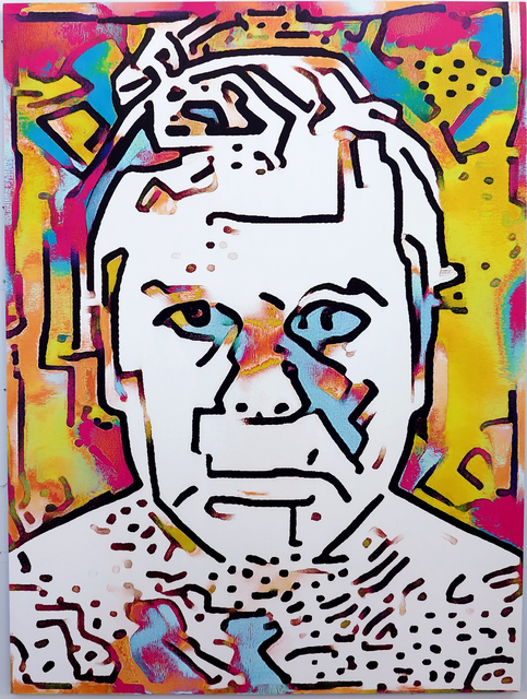 , 'Artificial Intelligence, Style Transfer Self-Portrait (Keith Haring & My Face),' 2017, Rod Bianco Gallery