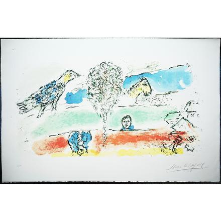 Marc Chagall, 'The Green River', 1974, Print, Lithograph in colors, Upsilon Gallery