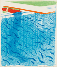 David Hockney, 'Pool Made with Paper and Blue Ink for Book,' 1980, Phillips: Evening and Day Editions (October 2016)