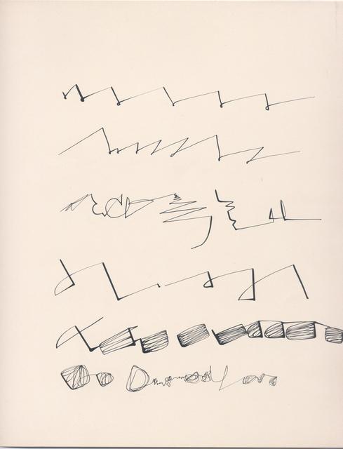 , 'Sin título (Texto),' 1972, Henrique Faria | Buenos Aires