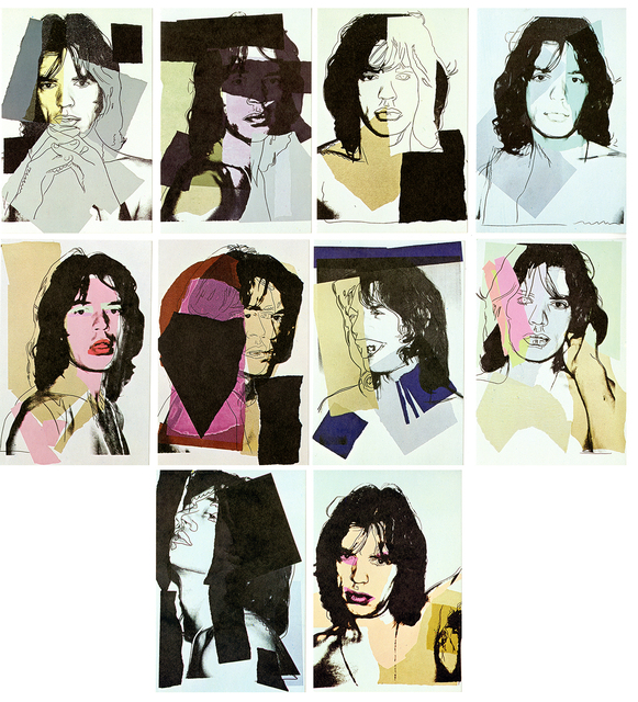 Andy Warhol, 'Andy Warhol Mick Jagger promotional cards (complete set of 10) ', 1975, Lot 180