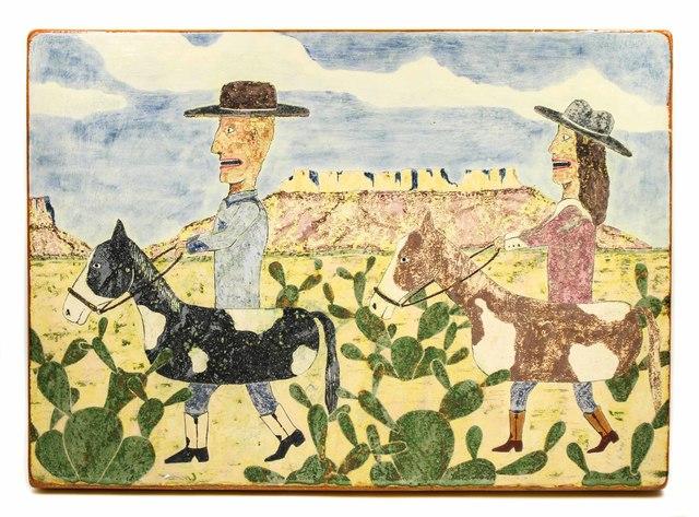 , 'Couple Riding Through Desert,' 2018, form & concept