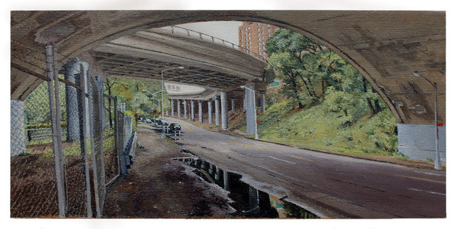 , 'Below the Hospital Complex at 168th Street,' 2012, Betty Cuningham