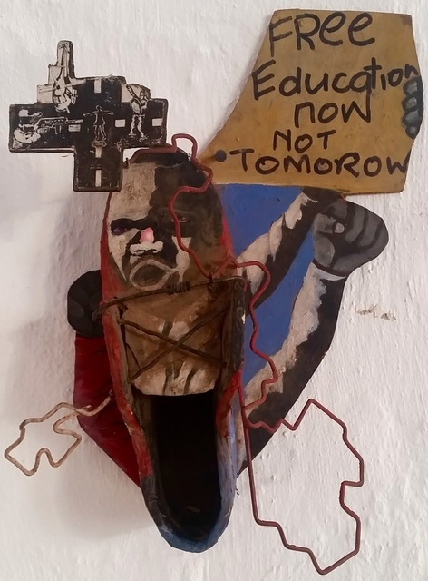 , 'Free Education Now,' 2016, Museum of African Design (MOAD)
