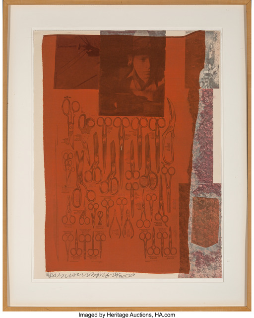 Robert Rauschenberg, 'More Distant Visible Part of the Sea, from Suite of Nine Prints', 1979, Print, Screenprint in colors with fabric collage on wove paper, Heritage Auctions
