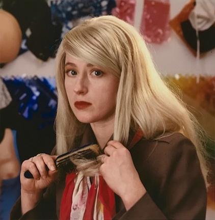 , 'Cindy Sherman combing blond wig, Walker Street Studio,' 1987, Staley-Wise Gallery