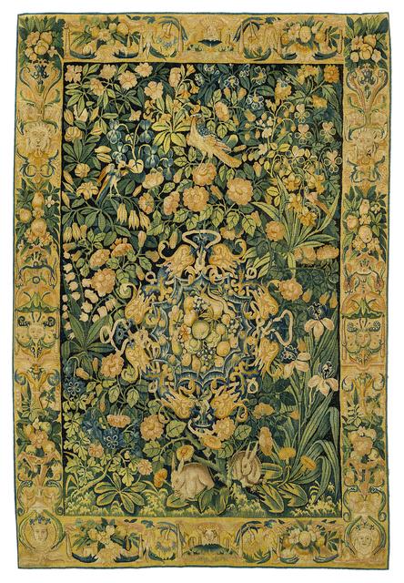 Unknown Flemish, 'Fond de Fleurs', Mid 16th century, Mullany