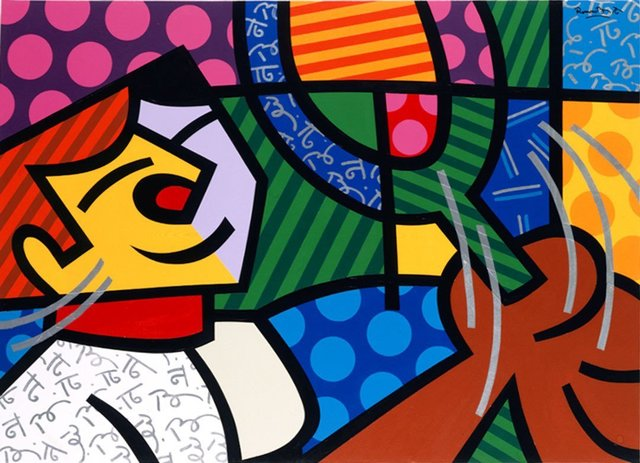 "Romero Britto, 'Romero Britto Silkscreen on paper ""Tennis Player"" Pop Art Cubism', 1994, Lions Gallery"
