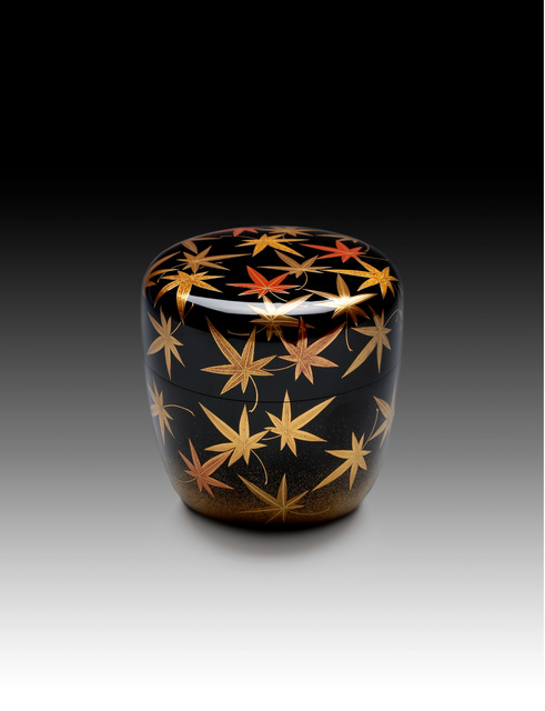 , 'Tea Caddy with Autumn Maple Leaves (T-4398),' Heisei era (1989–present), Erik Thomsen