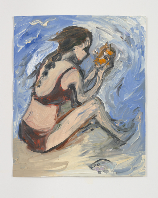 Jane Corrigan, 'Bather w/ Orange', 2019, Galerie Antoine Ertaskiran