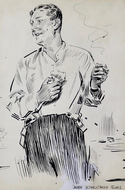 James Montgomery Flagg, 'Gentleman in Partial Evening Dress', 20th Century, The Illustrated Gallery
