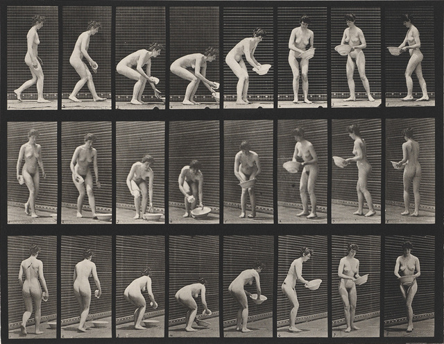 Eadweard Muybridge, 'A selection of 11 plates from the classic series Animal Locomotion showing women in motion', 1887, Swann Auction Galleries