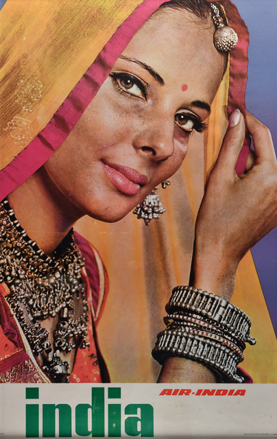 Vintage Travel Poster, 'India, Air India', c. 1960's, Kapoor Galleries / Graham Shay 1857