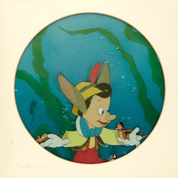 [ANIMATION ART] Disney animation cell for Pinocchio
