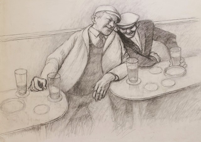 , 'Enjoying the craic,' , Castlegate House Gallery
