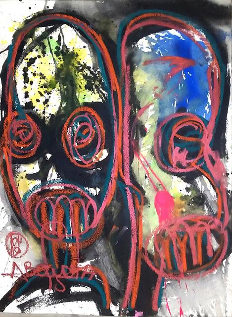 Aboudia, 'Môgô Dakar #8', 2019, Galerie Cécile Fakhoury - Abidjan