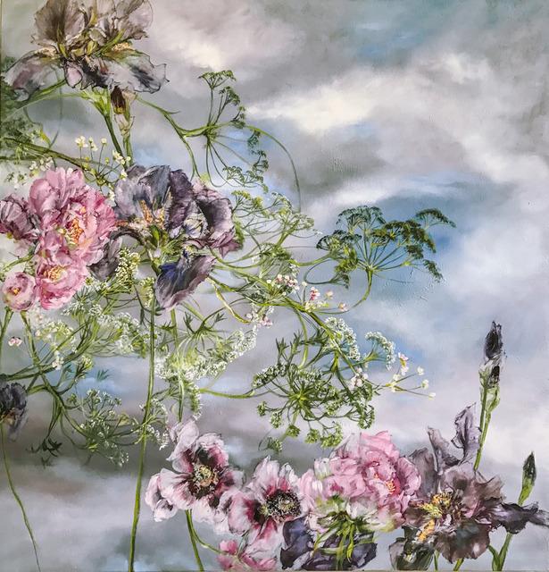 , 'Pivoines Pavots Iris et Ombelles, Ciel Bleu 1,' 2017, Amy Li Gallery
