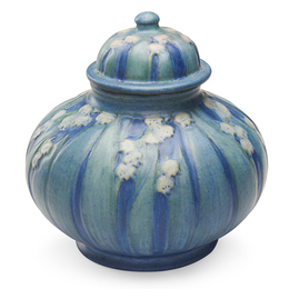 Newcomb College, Lidded Jar With Lily Of The Valley, New Orleans, LA