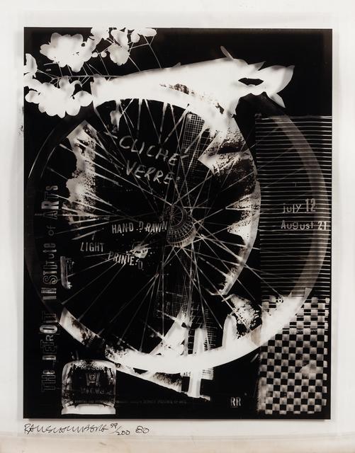 Robert Rauschenberg, 'Cliche' Verre', 1980, Print, Offset Lithograph on Mylar, Hindman