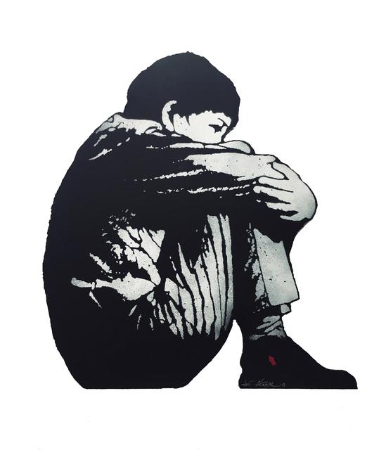 Jef Aérosol, 'Sitting kid', 2019, Galerie Martine Ehmer