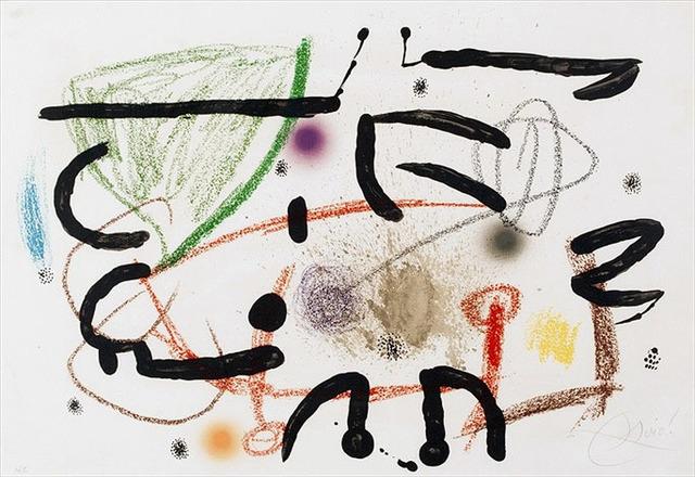 Joan Miró, 'Maravillas con Variaciones Acrósticas en El Jardín de Miró (Wonders with Aristocratic Variations in Mirós Garden), Plate 17', 1975, Masterworks Fine Art
