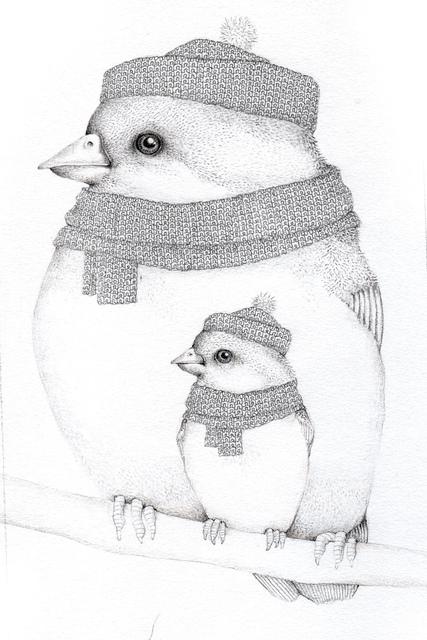 , 'Two Knitted Birds,' 2017, Rebecca Hossack Art Gallery