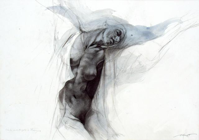 Ernest Pignon-Ernest, 'Les extases - Etude pour Angèle de Foligno', 2008, Bogena Galerie