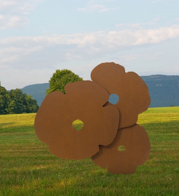 Donald Sultan, 'Big Corten Poppies', 2015, ARC Fine Art LLC