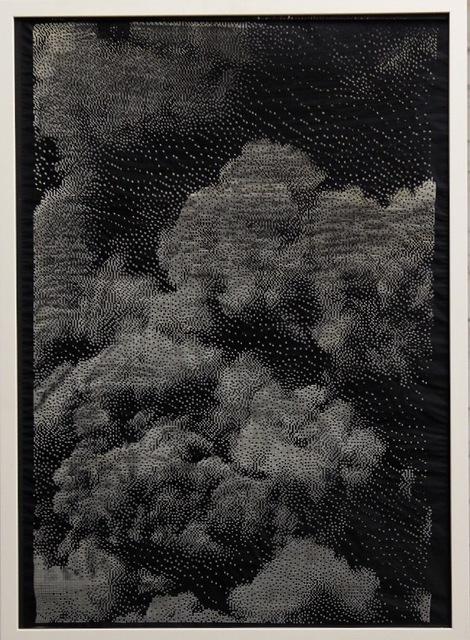 Michael Sebastian Haas, 'Burning Light ', 2019, Mixed Media, Laser engraving on canvas, Quantum Gallery