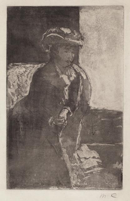 Mary Cassatt, 'The Corner of the Sofa (No. 3)', ca. 1879, National Gallery of Art, Washington, D.C.