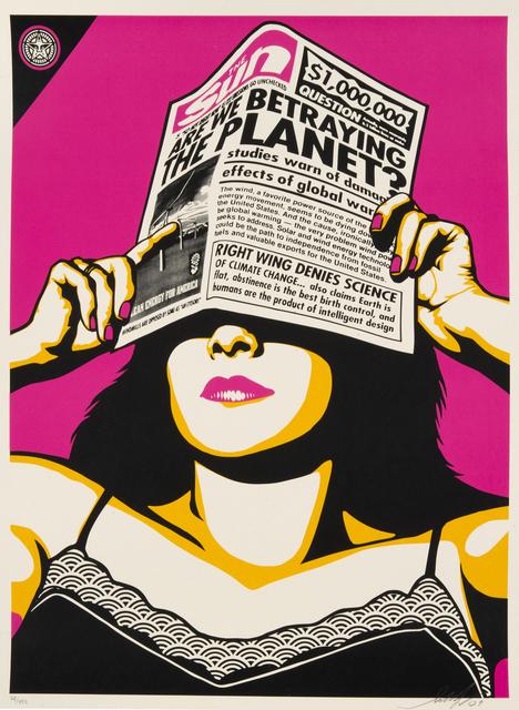 Shepard Fairey (OBEY), 'Global Warming', 2009, Julien's Auctions