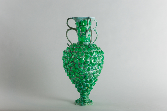 , 'Shari Mendelson, Green vessel with three double handles, USA, 2016,' 2016, Todd Merrill Studio