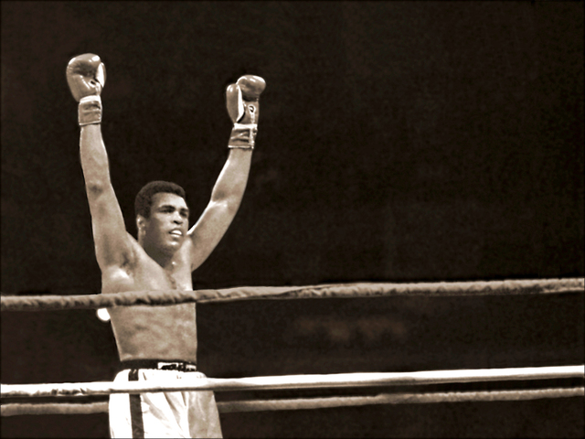 , 'Muhammad Ali at the end of the last round against Leon Spinks,' 1978, Richard Beavers Gallery