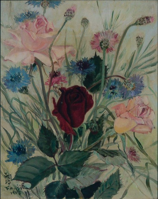 , 'Cornflowes and Roses,' 1938, Shukado Gallery