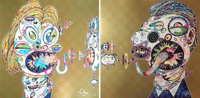 Takashi Murakami, 'Homage to Francis Bacon (Study for Head of Isabel Rawsthorne and George Dyer)', 2016, artrepublic