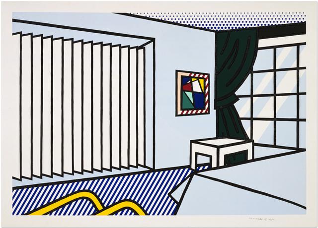 Roy Lichtenstein, 'Bedroom', 1991, Print, 10-color woodcut and screenprint, Upsilon Gallery