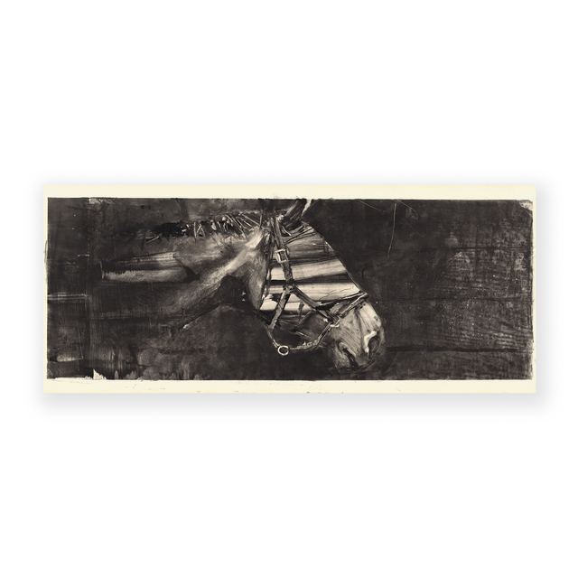 Gonzalo Borondo, 'nsurrecta XV (Caballo Cabeza II)', 2020, Print, Monotype on wallpaper, Galleria Varsi
