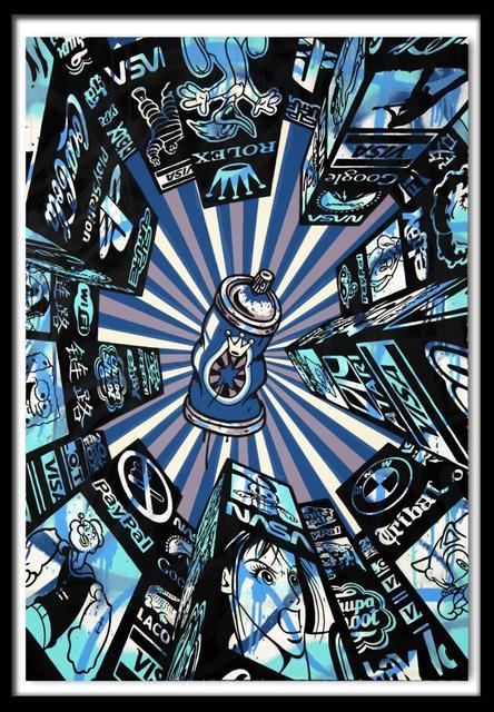 Speedy Graphito, 'Home Street Home (Blue) ', 2011, Denis Bloch Fine Art
