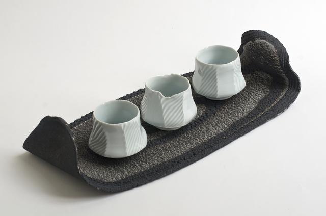 , 'Monochrome Platter and Celadon Bowls,' 2014, Cynthia Corbett Gallery